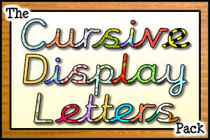 The Cursive Display Letters Pack