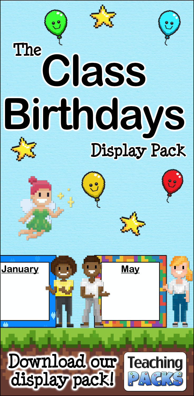 The Class Birthdays Display Pack
