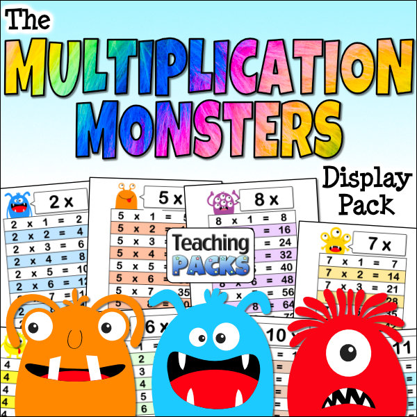 The Multiplication Monsters Display Pack