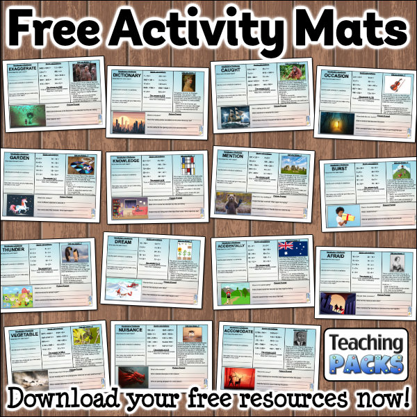 Download FREE Activity Mats!
