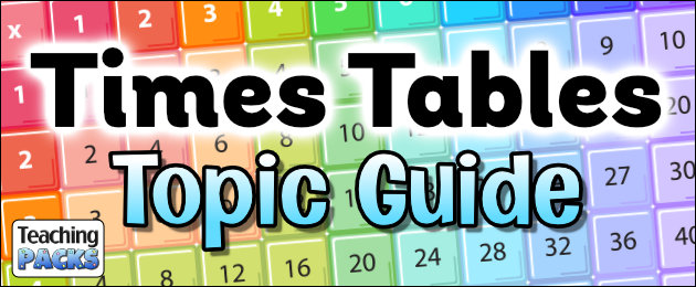 Times Tables Topic Guide for Teachers